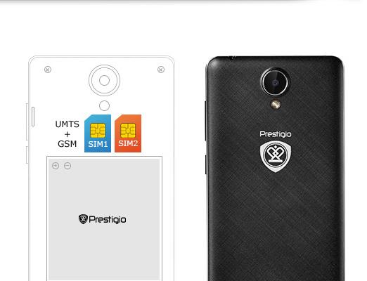 Smartfon Prestigio Grace S5 LTE PSP5551DUO Czarny
