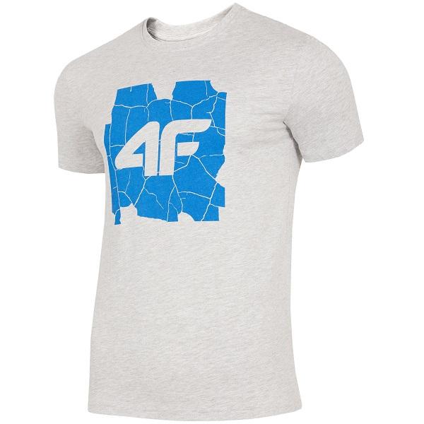 554453127 T-shirt męski 4F H4L19-TSM007 L jasno szary - sklep online MirapolNEXT