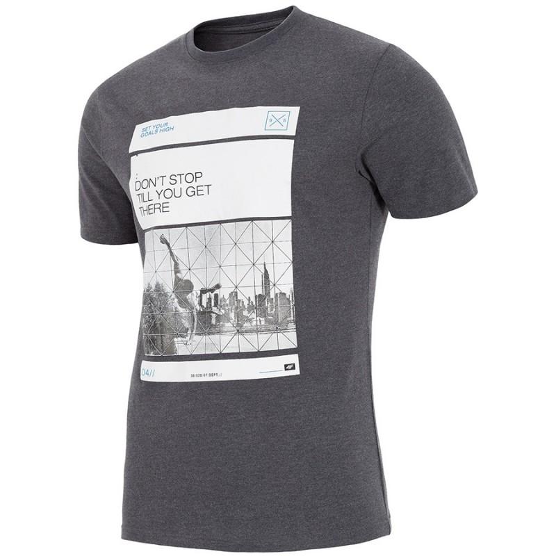 f55e13bd4 T-shirt męski 4F H4L18-TSM027 XXL ciemno szary - sklep online ...