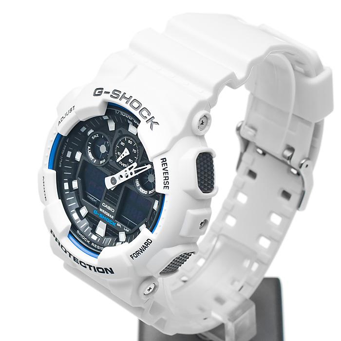 8b5ab51711623b Zegarek Casio G-shock GA-100B-7AER + Bateria biały - sklep online ...