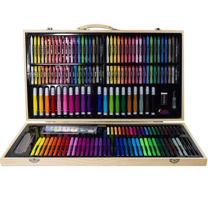 Masywnie Zestaw artystyczny 180el w drewnianej walizce - sklep online DL37