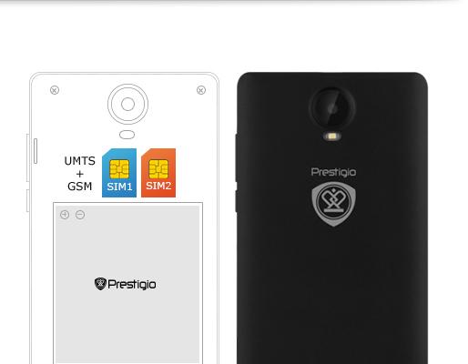 Smartfon Prestigio Wize E3 PSP3509DUO Metalow